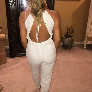 Gorgeous open back lovers and friends jumpsuit
